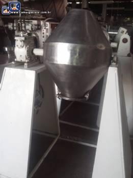 Misturador industrial duplo cone 50 litros