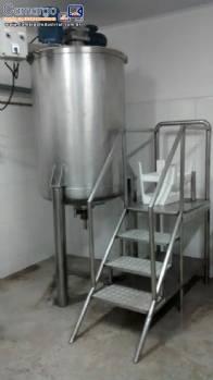 Tanque com agitador para 500 litros em aço inox